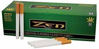 ZEN King Size Menthol Flavored Cigarette Tubes 200ct 84mm (2-Boxes)