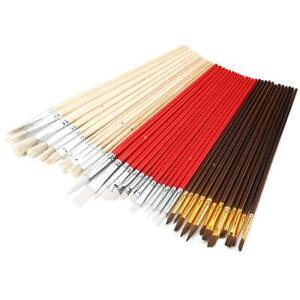 38X Artists Paint Brush Set Nylon Hair Acrylic Watercolor Tip Foldable Bag Sets
