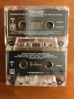 Stevie Wonder Motown Legends 1994 and Greatest Hits 1975 Tape Cassette