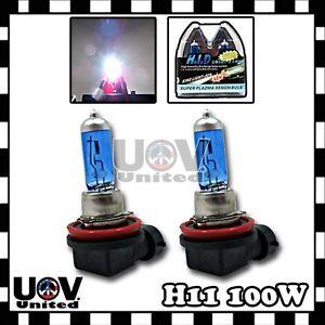 H11 5000K Headlight Bulbs High Beam White Power Halogen 12v 100w Gas Xenon U1