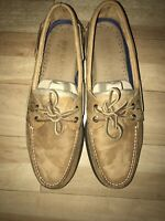 Men's Sperry Top-Sider Original A/O 2-Eye Boat Shoes Sahara Size 11.5