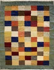 Rugstc 4.5x7 Gabbeh Multicolor Área de Alfombra, Genuino Anudado a Mano, Lana