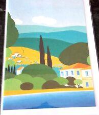 Blank Card .Villa by the Shore Theme. Innocent Art Cards