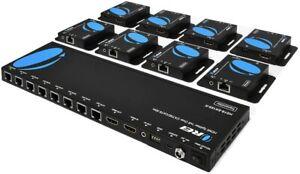 OREI 1x8 HDMI Extender Splitter Multiple Over CAT6/7 Cable-165Ft(HD18-EX165-K)