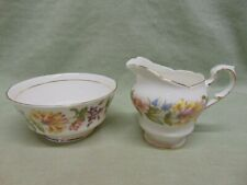 "Paragon Fine Bone China England ""Country Lane"" Sugar & Creamer"