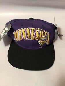 Vintage 90s Minnesota Vikings STARTER Pro Line Wool NFL Football Snapback Hat