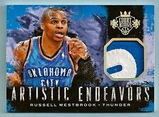 Russell Westbrook 2014/15 PANINI COURT KINGS JUEGO WORN 2 color con parche / 25