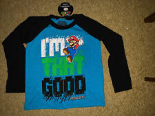 Super Mario Brother's Boys Long Sleeve Shirt NWT medium 5-6
