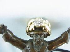 Reinheit IF Sehr gute Solitäre Echte Diamanten-Ringe aus Gelbgold