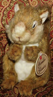 "8"" Russ Yomiko Classics Realistic SQUIRREL Bean Plush Stuffed Animal Toy Lovey"