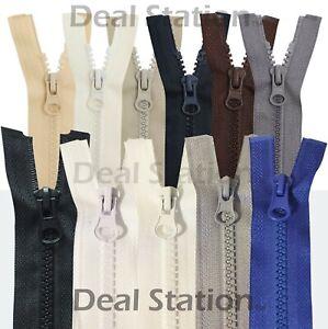Chunky Zip Zipper Teeth Open End Plastic Number 5 No 5 Heavy Duty Black White