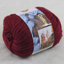 Sale 1BallX50g Chunky Cotton Hand Knitting Smooth Special Thick Yarn Ruby 36