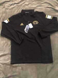Boston Bruins Quarter Zip Pullover Black Adidas NWT $75 Large L