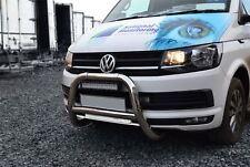 Per adattarsi 2015+ VW Volkswagen Transporter T6 BULL BAR spingere un Bar-UE Approvato CE