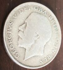 1922 Silver Half Crown King George V Fair condition