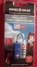 Swiss Gear Travel Sentry 3 Dial Combination Lock (T S A APPROVED)