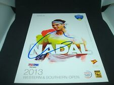 Rafael Nadal Signed 2013 W&S Open Official Player Card PSA/DNA COA Auto. 1B