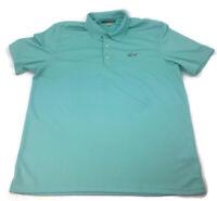 GREG NORMAN Play Dry Men's Blue XXL 2XL Golf Short Sleeve Polo Shirt