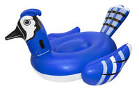 "Swimline Giant 91"" Inflatable Mega Blue Jay Ride On Swimming Pool Float Raft"