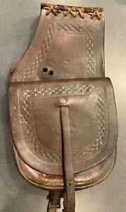 RARE SADDLE BAGS OR POCKETS EARLY MAKERS MARK H. H. HEISER DENVER, COLORADO
