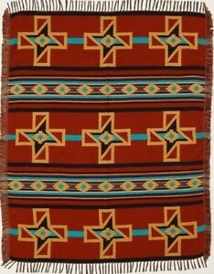 Crosses Authentic Mexico Accent Throw Native Style Blanket 4'x5' Southwest Lodge