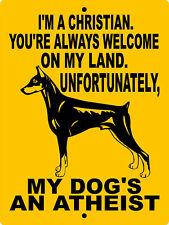 907 Doberman Pinscher Aluminum Sign Vinyl Decal Dog Warning