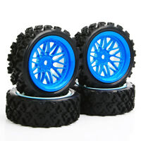1/10  RC Rally Racing Off Road Car Rubber tires Tyre & Wheel Rim Set 12mm Hex