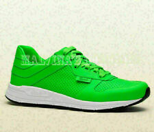 GUCCI MENS SNEAKERS IPANEMA GREEN LEATHER EMBOSSED LOGO SHOES $690 8G 9 42.5