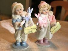 Florina Collection Musical Porcelain Dolls  Nina & Paco In Box Vintage Set