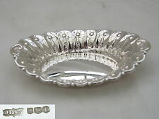 SUPERB QE II HM STERLING SILVER FLUTED DISH 1971