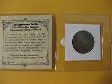 1893 Columbian Exposition U.S. Half Dollar  1st commemorative coin   SILVER 65