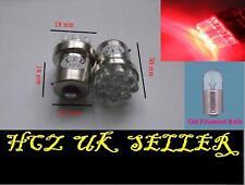 2x 9 LED STOP TAIL BRAKE REAR BLUBS 1156 207 BA15S G18 P21W RED UK