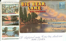 THEME OURS CARTE POSTALE OBLITERE LE 28-7-1949 BIG BEAR LAKE LAC DU GRAND OURS