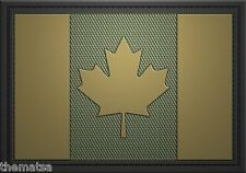 CANADA CANADIAN TACTICAL BEIGE GREEN   FLAG PATCH 3X2 PVC  WITH HOOK LOOP