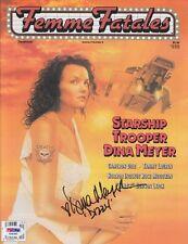 "DINA MEYER Signed Autographed ""Starship Troopers"" FEMME FATALES Magazine PSA/DNA"