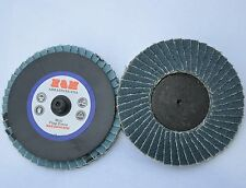 "20 Mini 3"" inch Flap Disc Zirconia 60g Twist lock Sanding grinding wheel Type R"