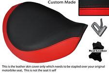 Negro Y Rojo Custom encaja Triumph Latina Bonneville Speedmaster delantera cubierta de asiento