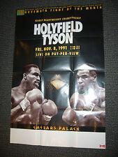 11/8/1991 26X39 EVANDER HOLYFIELD MIKE TYSON PHANTOM HEAVYWEIGHT CHAMP POSTER