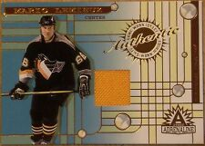 2002 ADRENALINE MARIO LEMIEUX GAME WORN JERSEY CARD- EXCELLENT CONDITION