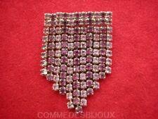 """Broche """"Décoration Médaille"""" Rose Améthyste Pluie de 11 Rangs- Bijoux pur Cadeau"""