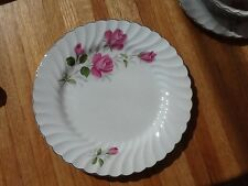 Johnson Brothers Snow White Regency JB 602 pink roses 9 3/4 plate