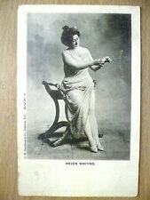 1900s Used Postcard- Theatre Actress HELEN WHITING