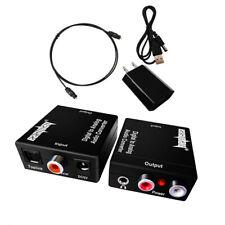 Eulan Toslink Optical SPDIF Digital To Coax Coaxial RCA Audio Converter Adapter