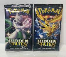Pokémon Sun & Moon Hidden Fates Booster Packs (x2) Factory Sealed! Ships Fast!