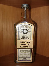 Vintage Watkins Double Strength Imitation White Vanilla Flavor Twist Top Bottle