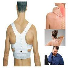 Corrector De Postura magnético de alimentación parte trasera del hombro Soporte Blanco Ajustable Unisex