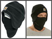 Men's Winter Hat Fleece Polyester 2 In 1 With Pull-Down Face Mask Carhartt Black