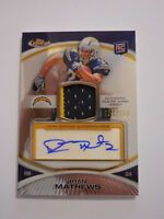 2010 Topps Finest Football Rookie Auto Patch RC Autograph Ryan Mathews 53 #/150