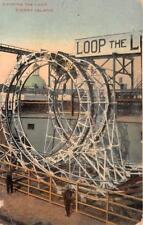 LOOPING THE LOOP ROLLER COASTER CONEY ISLAND NEW YORK POSTCARD 1913