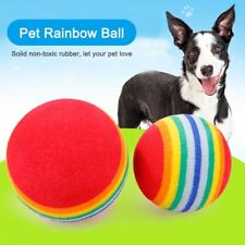 Pet chew toy rainbow ball small Kitten Dog Rainbow Cat Toy Play Chewing Rattle